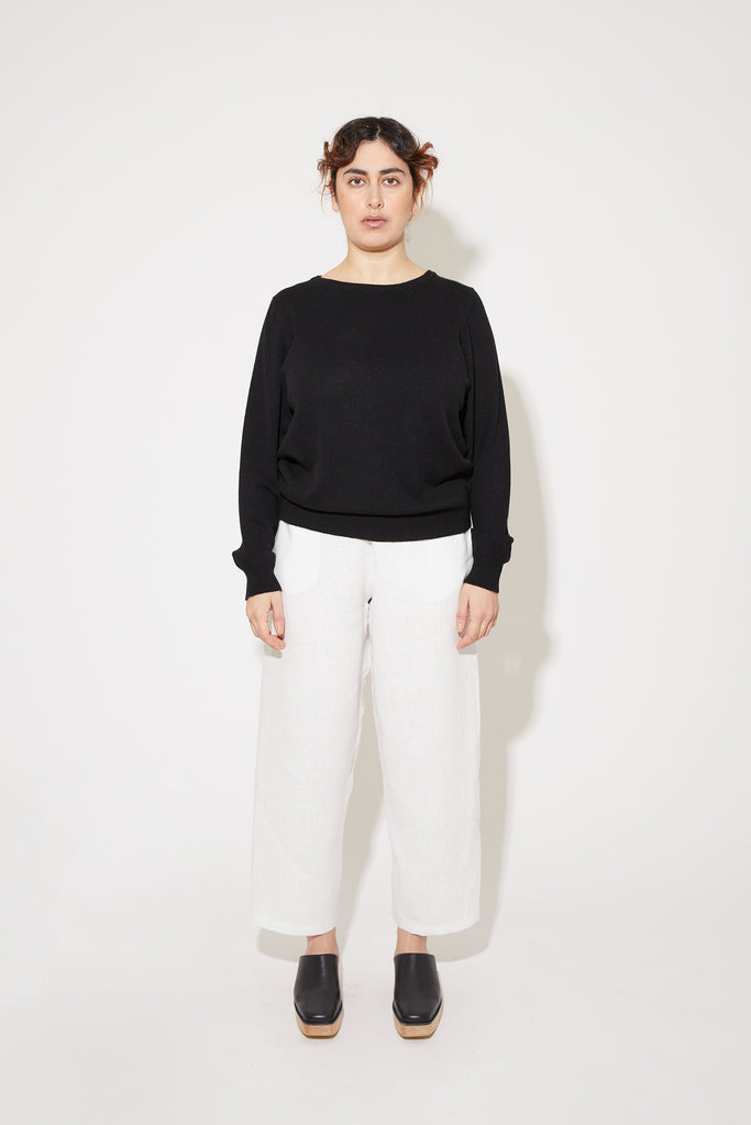 Laine cashmere sweater in black