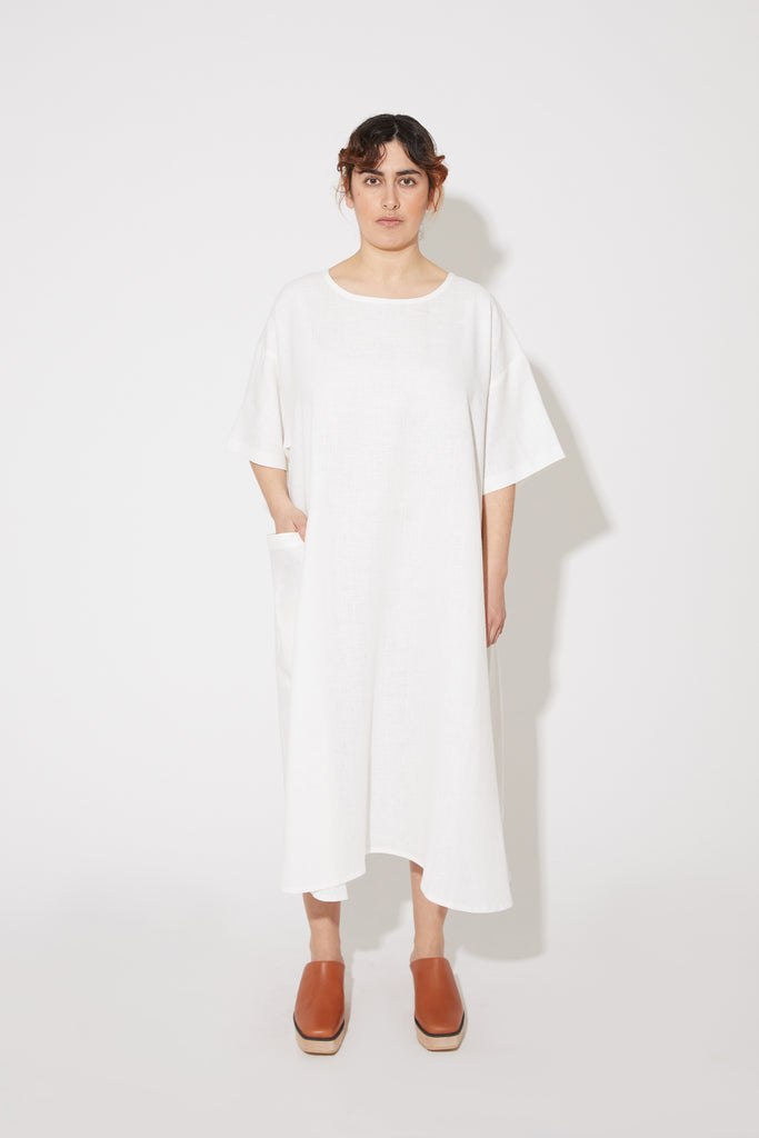 Lucie dress in white