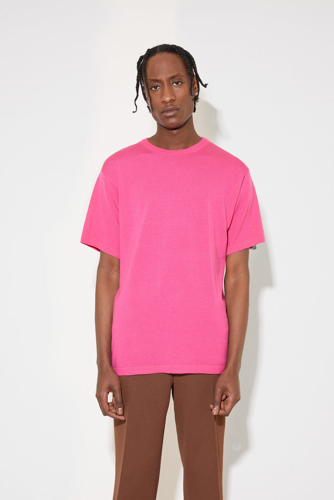 Mathis merino t-shirt in pink