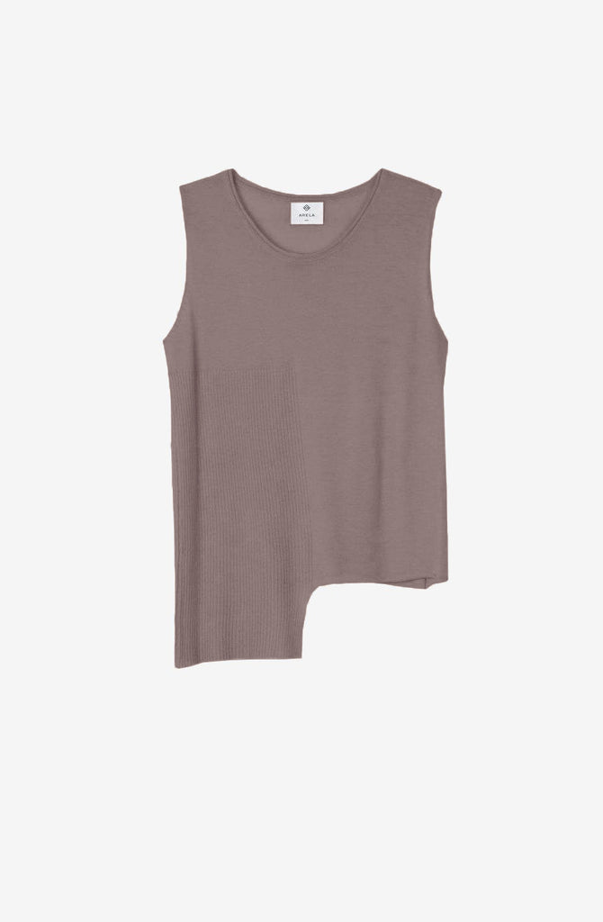 For Good: Taupe Top, size S