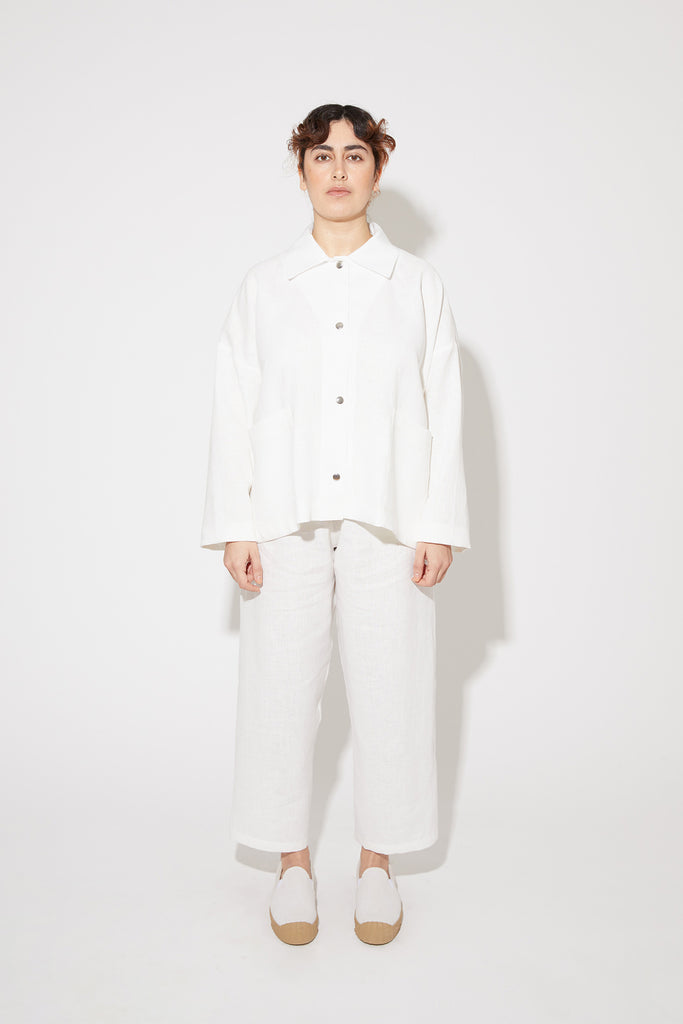 Tove jacket in white linen