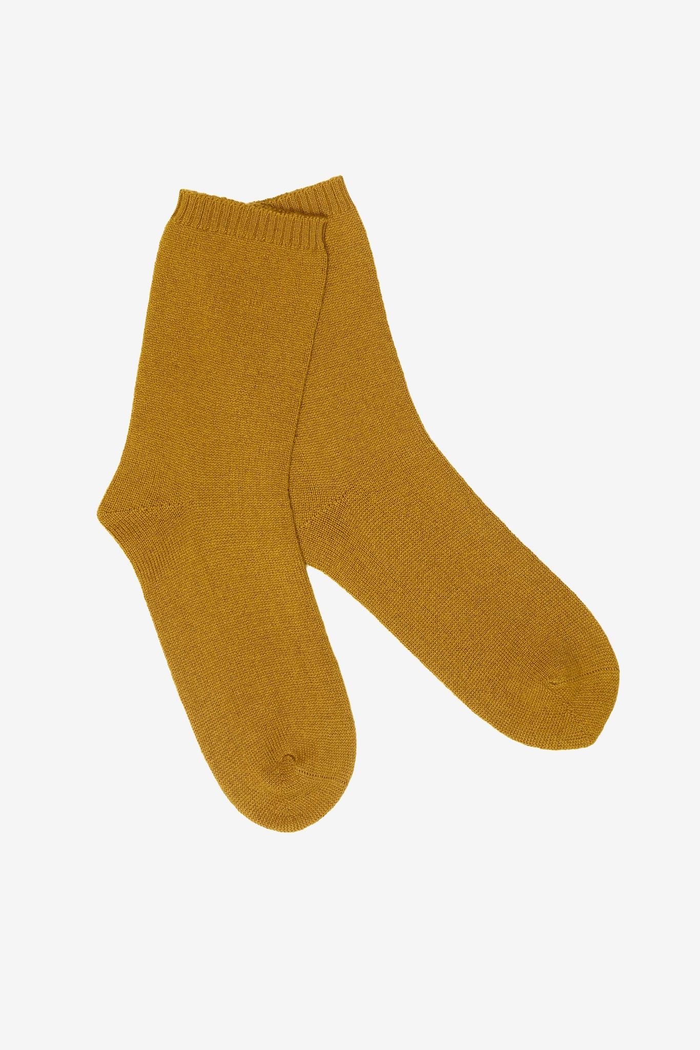 Ulla cashmere lounge socks in yellow