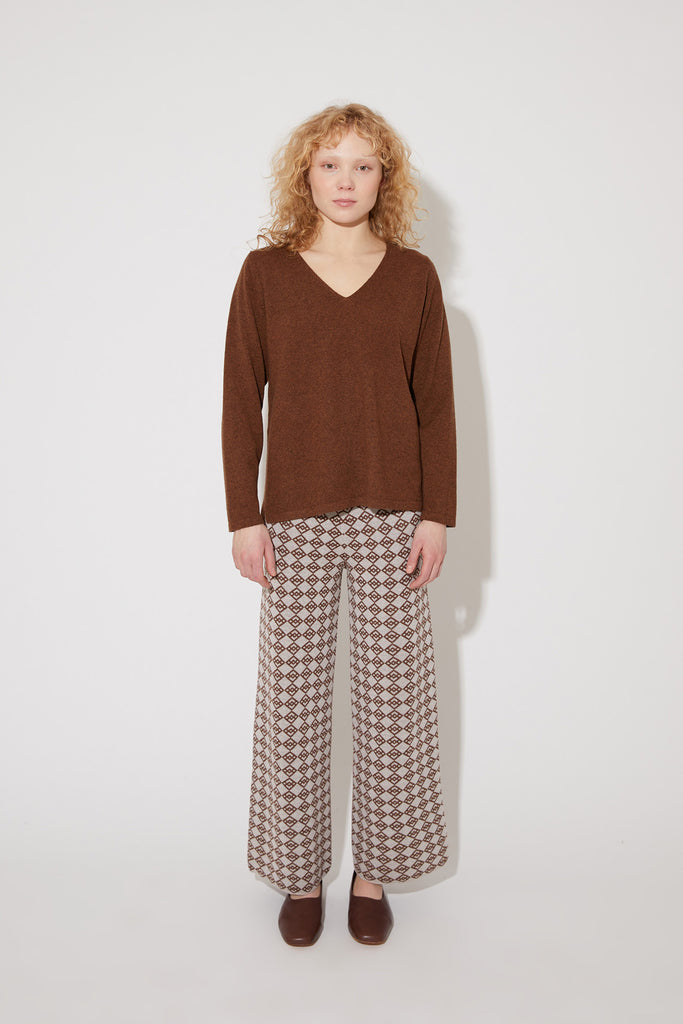Vija cashmere sweater in brown