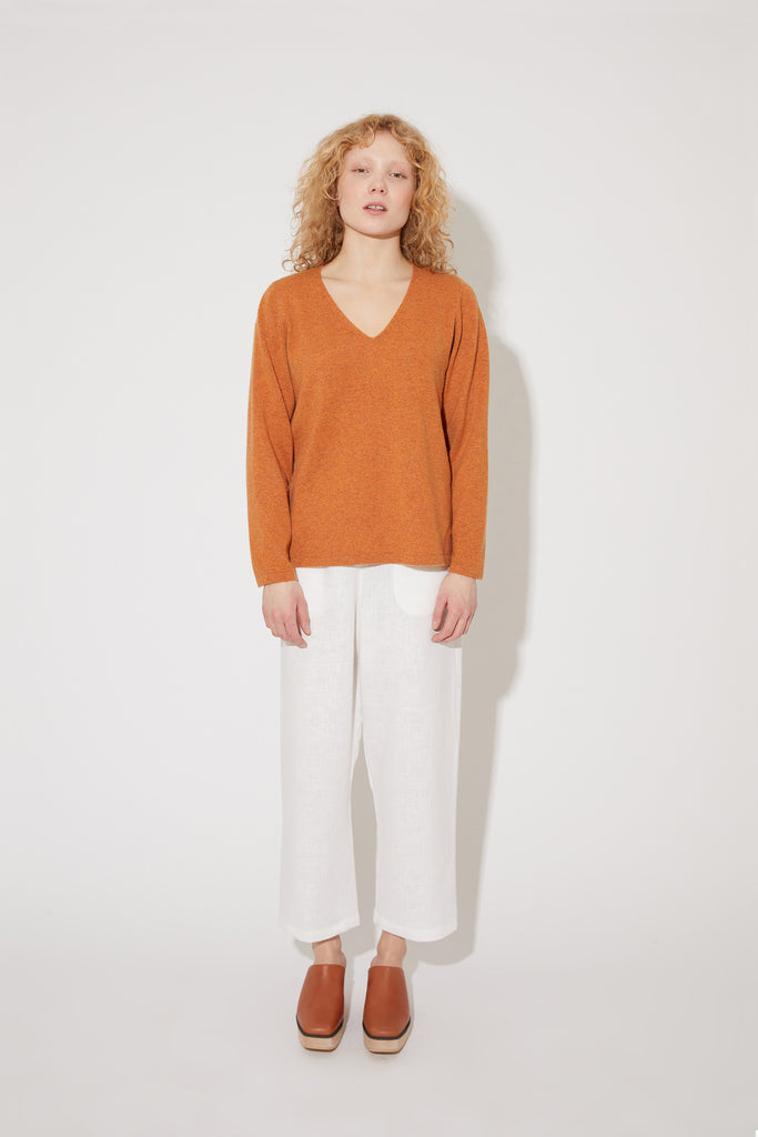 Vija cashmere sweater in rust