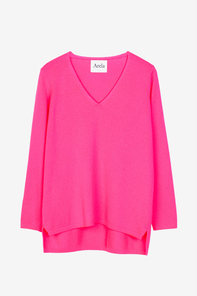 Vija sweater in vivid pink