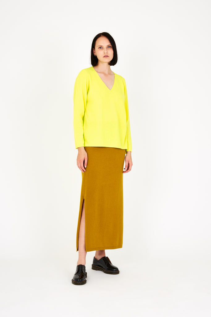 Vija sweater in bright yellow