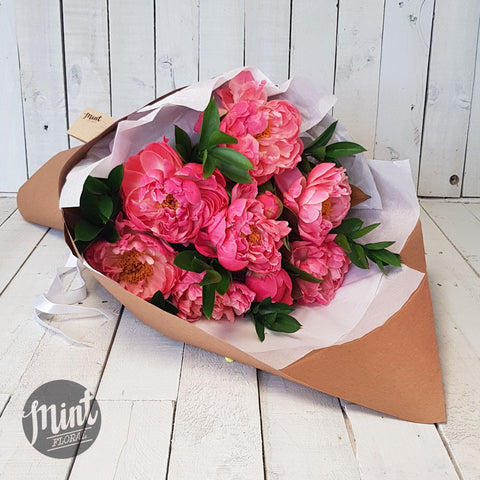 Melon Pink Peony Bouquet