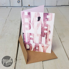 BIRTHDAY CARD - Timber Block Letters