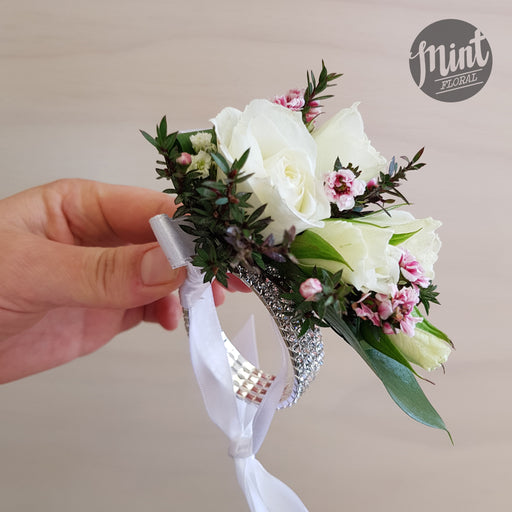 School Ball Corsage - Diamante Deluxe Band