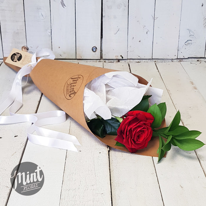 Wrapped Deluxe Red Rose