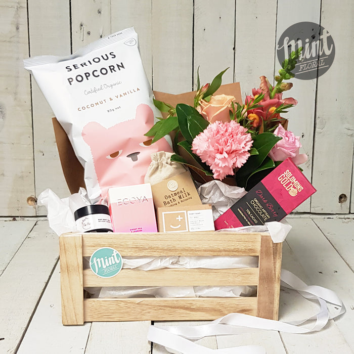 Gorgeous Baby Girl Gift Crate - With Free Beanie!