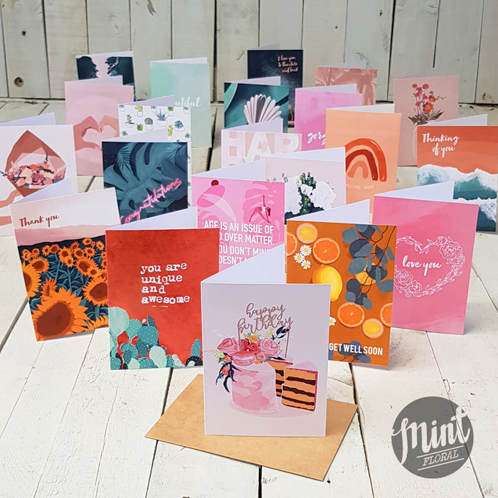 Deluxe Greeting Card - Choose Your Occasion and Design