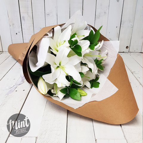 White Fragrant Lily Bouquet