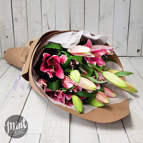 Pink Fragrant Lily Bouquet