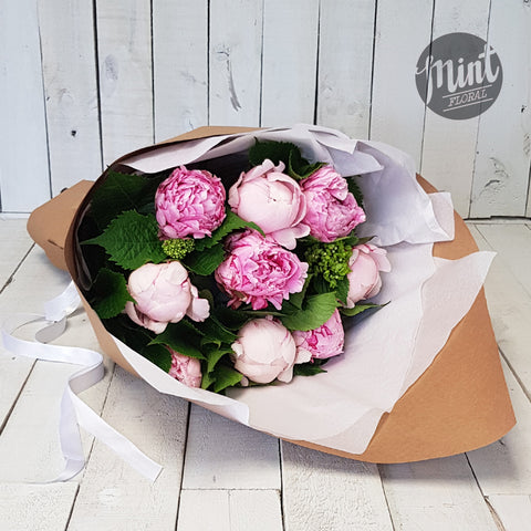Candyfloss Pink Peony Bouquet