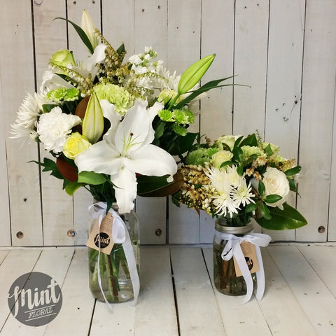 Neutral Preserving Jar Posy
