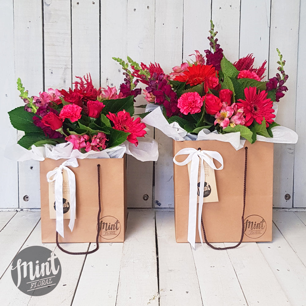 Raspberry Bouquet Bag