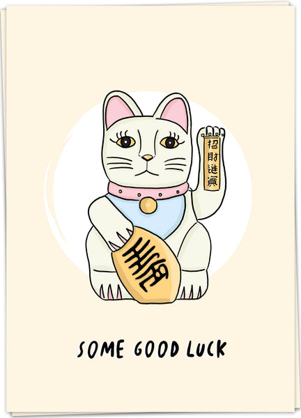 "Carte postale ""Some good luck"""