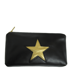 Black and Gold Pouch Purse