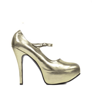 Mary Janes - Soft Gold Mirror UK 6