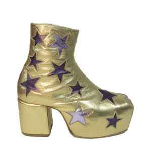 Star Boots - Gold, Purple and Lilac
