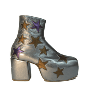 Star Boots - Gun Metal, Purple and Bronze