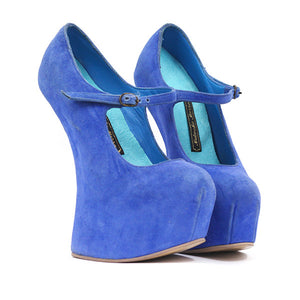 Iwona Shoes - Blue Suede UK 8