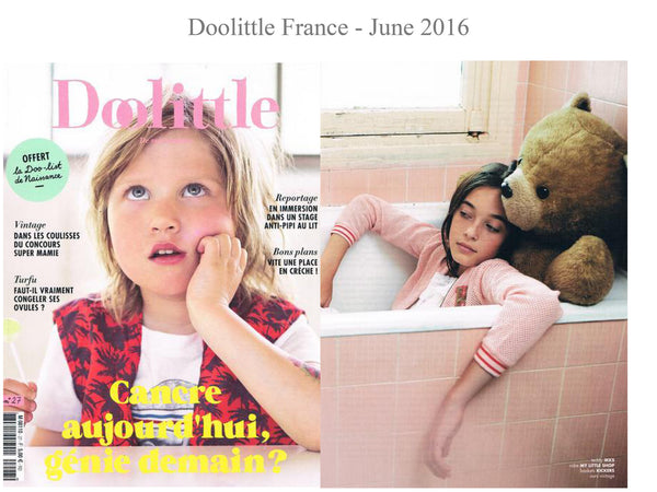 Doolittle Magazine - My little Shop in the Press - nightwear - Life of kids in Pyjamas