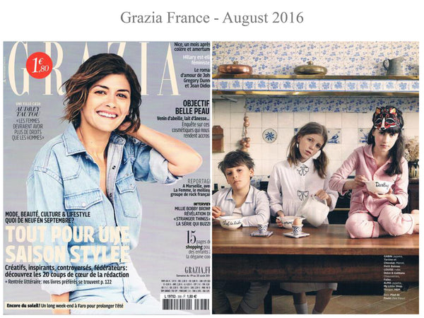 Grazia - My little Shop in the Press - nightwear - Life of kids in Pyjamas