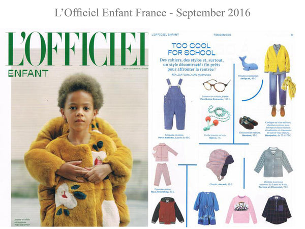 L'officiel enfant - My little Shop in the Press - nightwear - Life of kids in Pyjamas
