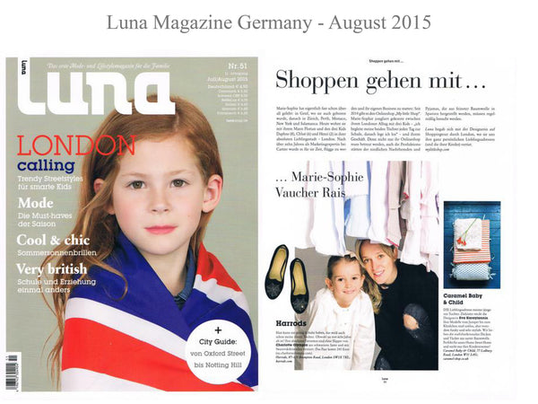Luna magazine - My little Shop in the Press - nightwear - Life of kids in Pyjamas