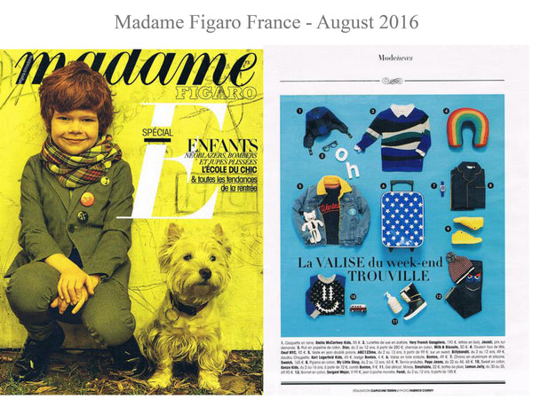 Madame Figaro - My little Shop in the Press - nightwear - Life of kids in Pyjamas