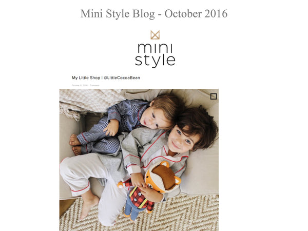 Mini Style Blog - My little Shop in the Press - nightwear - Life of kids in Pyjamas