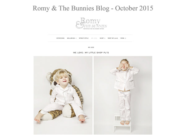 Romy and the bunnies - My little Shop in the Press - nightwear - Life of kids in Pyjamas