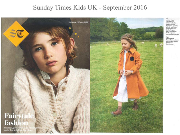 The Sunday times - My little Shop in the Press - nightwear - Life of kids in Pyjamas
