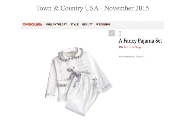 Town and country mag - My little Shop in the Press - nightwear - Life of kids in Pyjamas