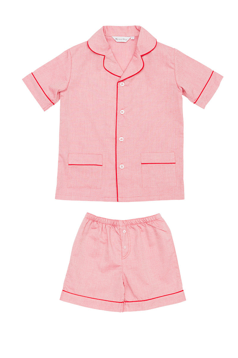 My little shop nightwear pyjamas pajamas kids luxury sleepwear handmade designer Damian shorts Pyjamas boys Summer 2017