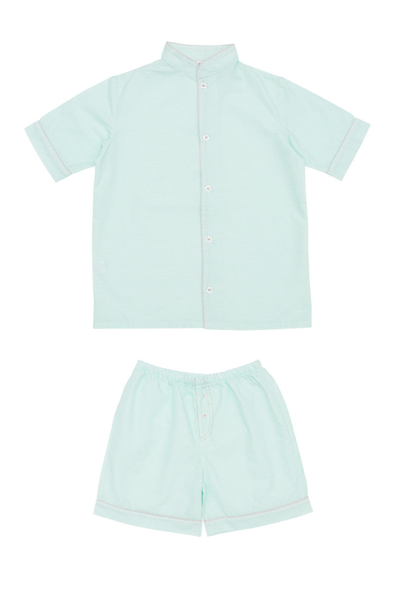 My little shop nightwear pyjamas pajamas kids luxury sleepwear handmade designer Ray shorts Pyjamas boys Summer 2017