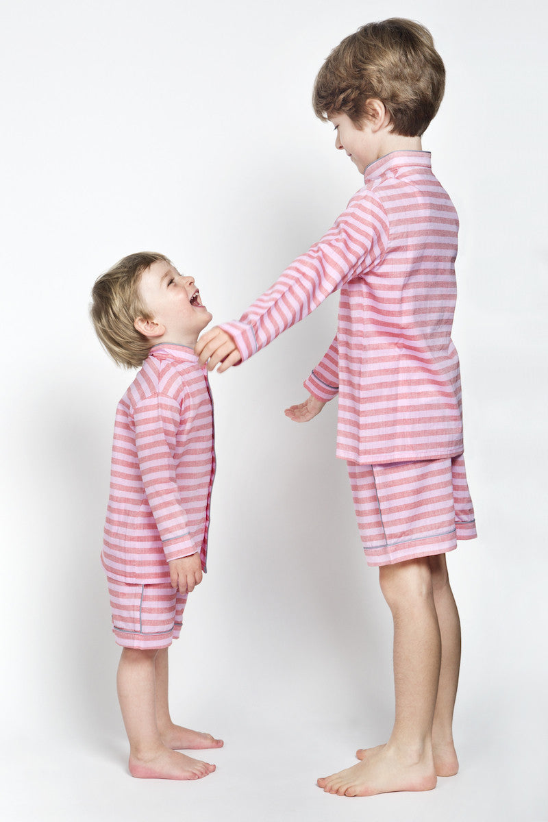 Chris Red and pink stripes pyjamas