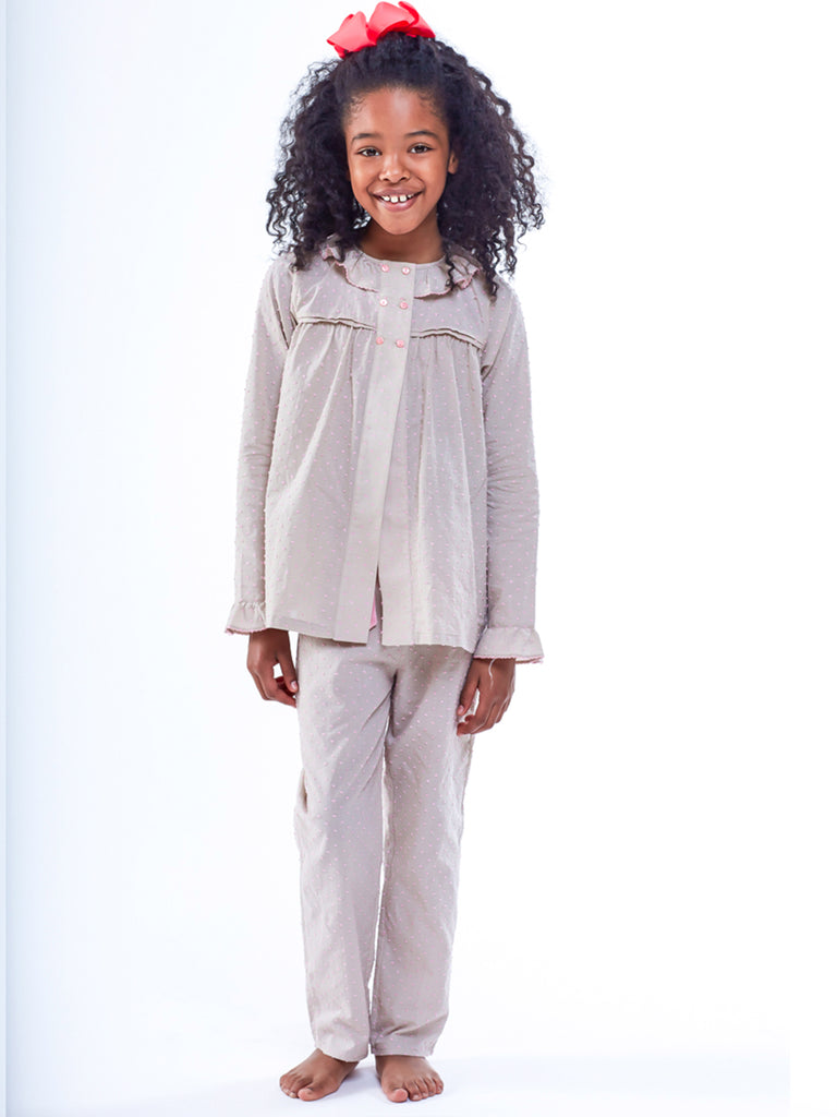 Ines Girls Sand Color Children Pyjamas