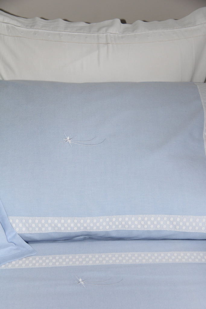 Shooting Star Blue Pillowcase