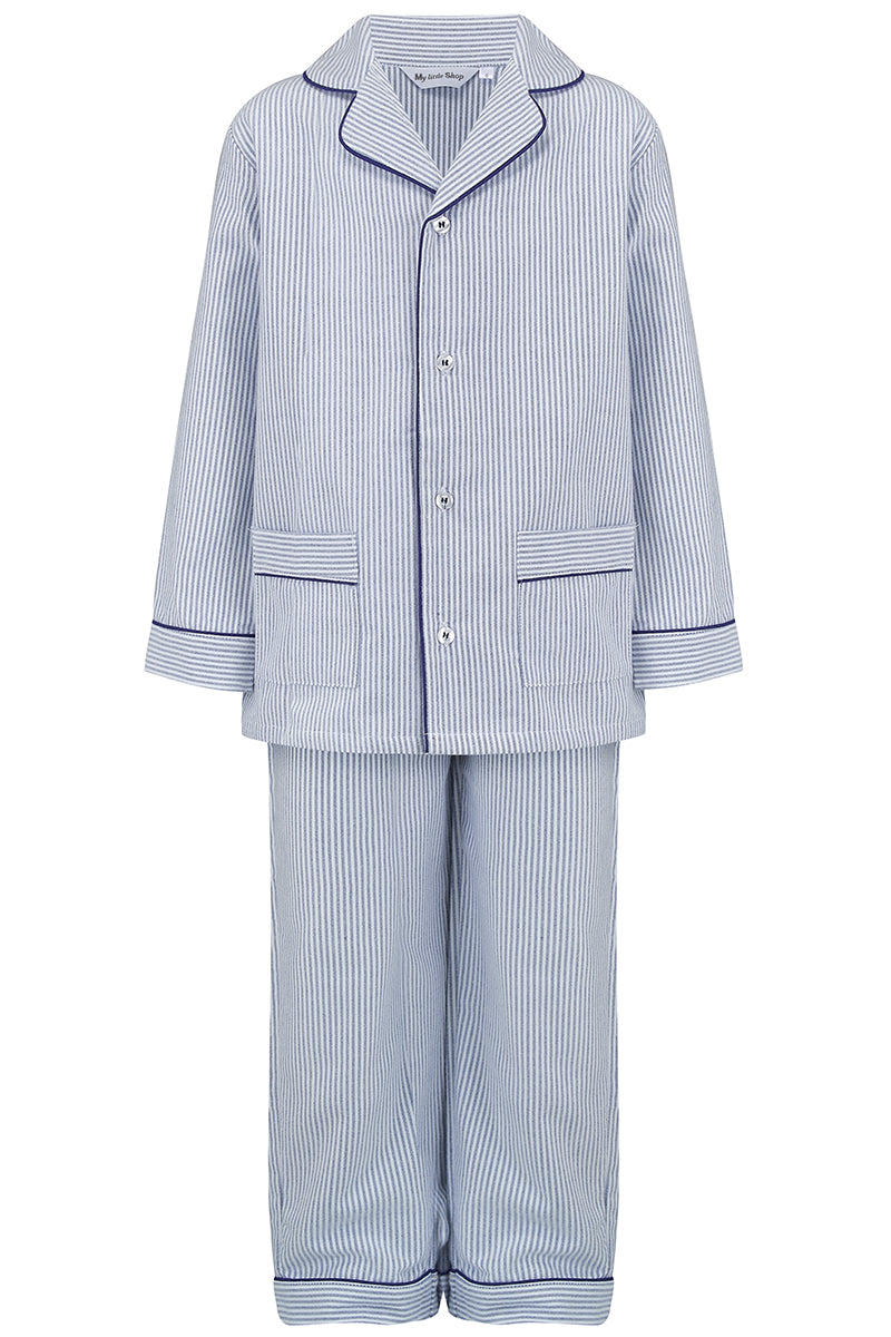 Lad Boys Blue Stripes Children Pyjamas