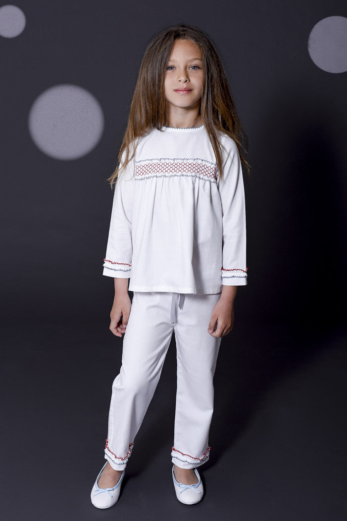 Valentina girls pyjamas Winter collection personalised pyjamas - luxury nightwear for kids