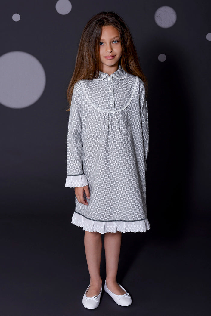 Romantic Edith girls nightdress Winter collection personalised pyjamas - luxury nightwear for kids