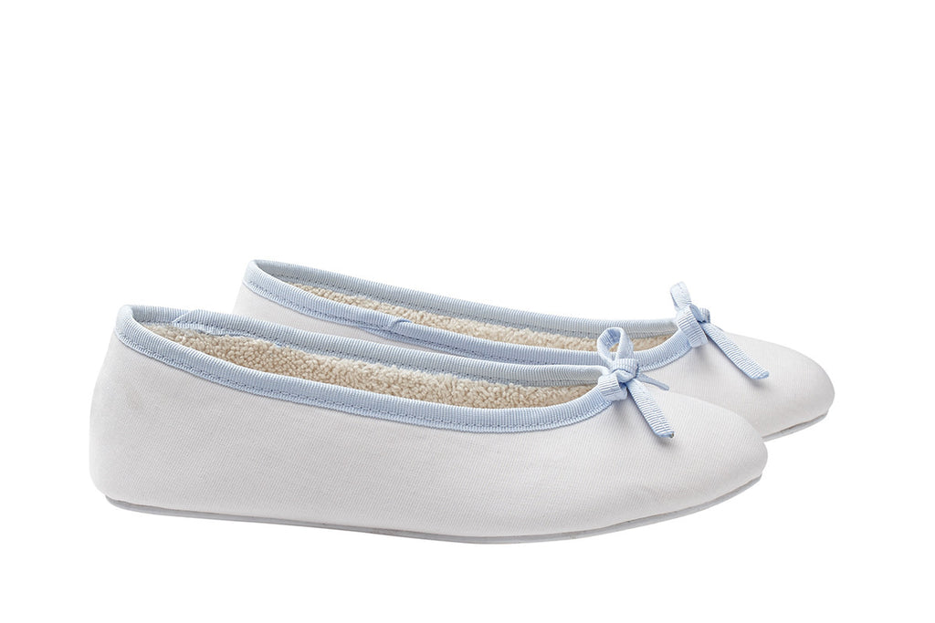 Betty girls slippers blue bow - My little Shop nightwear for kids - accessories