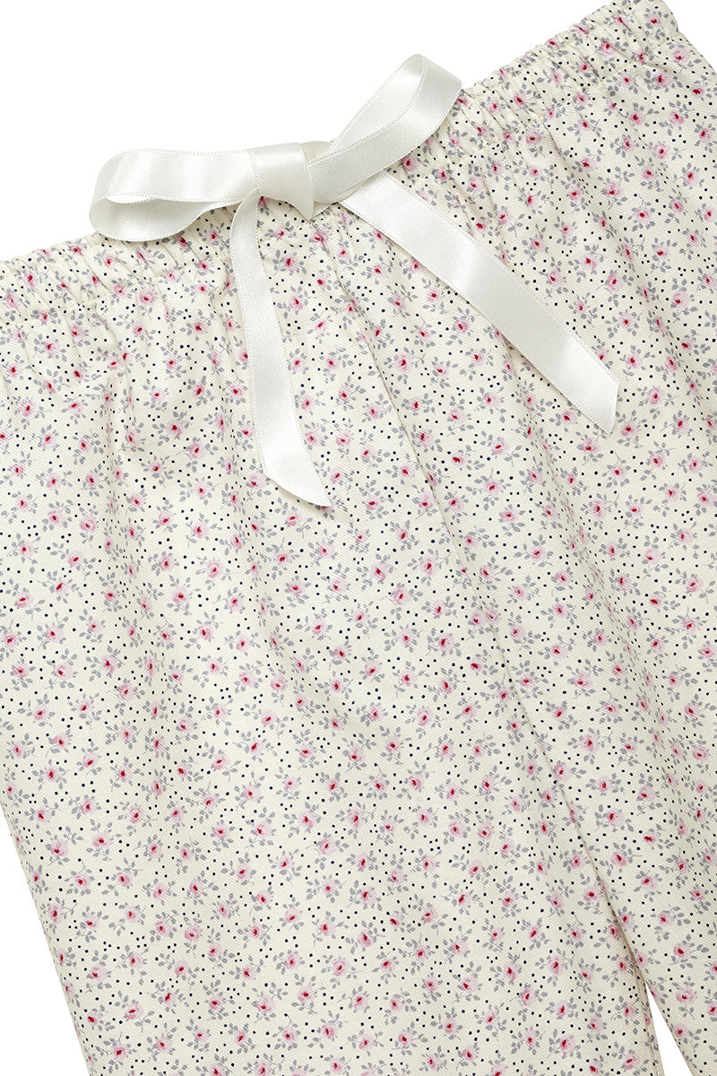 Agatha Girls Children Pink Flowers Pyjamas