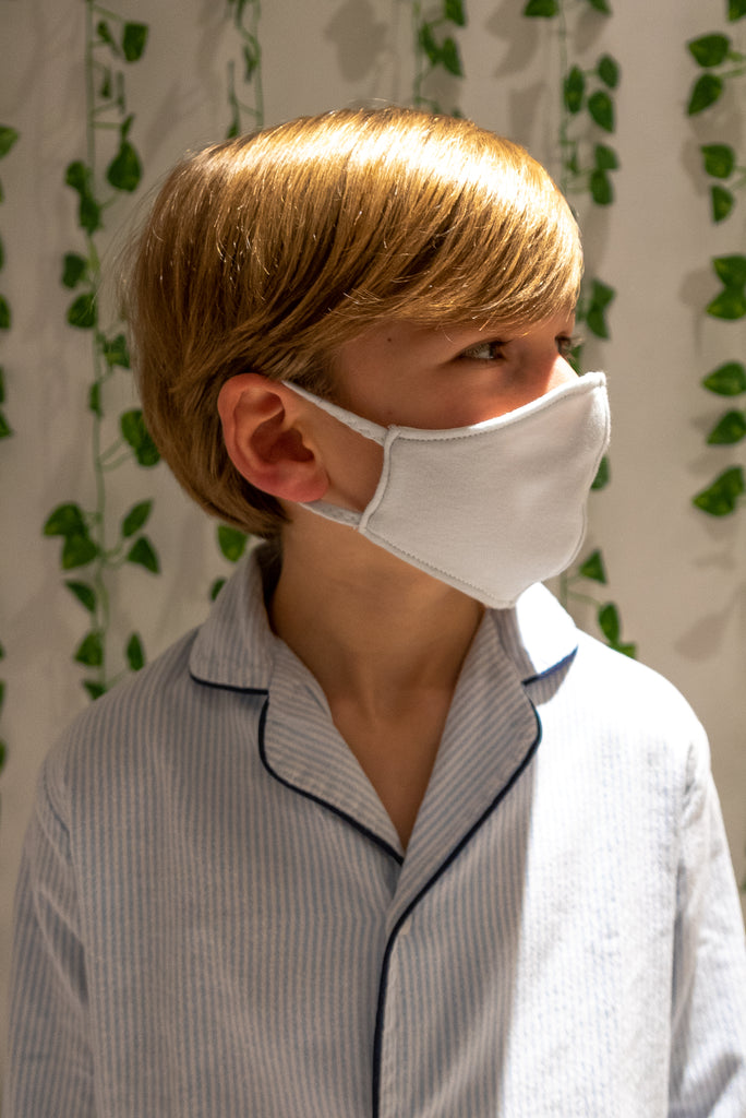 Available now Very Light Blue Eco-Friendly Mask REVERSIBLE