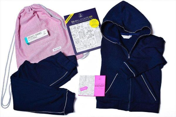 Girls Blue Tracksuit Children Travel Kit