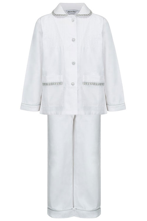 Manon Girls White Children Pyjamas
