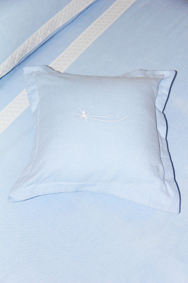 Shooting Star Small Blue Cushion